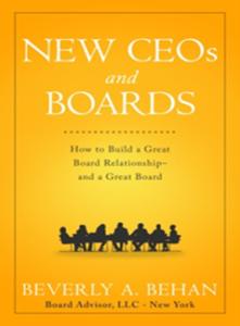 New CEOs Board Effectiveness